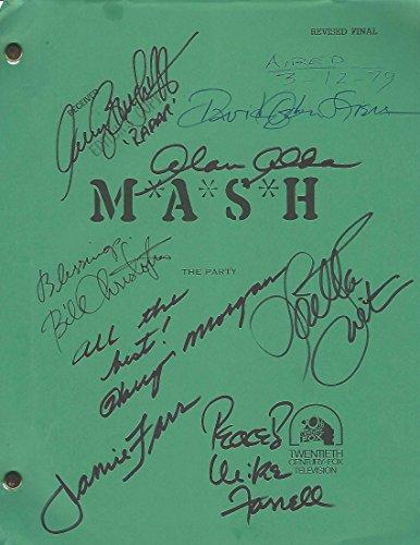 "MASH"" Signed Script By ALAN ALDA, LORETTA SWIT, JAMIE FARR, Item#55"