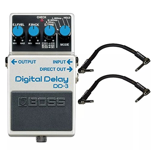(Boss DD-3 Digital Delay and 2 Roland Black Series 6 inch Patch Cables)