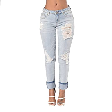 6008d7b03de Image Unavailable. Image not available for. Colour  TieNew Women s Stretch  Denim Ripped Butt Lifting Jeans