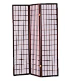 New Home Deal Wooden Divider Panel Screen (3-Panel, Cherry)
