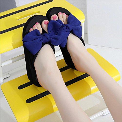 Sandalias de verano de las señoras talón de la cuesta Flip Zapatillas de playa del pie del clip de la manera 5