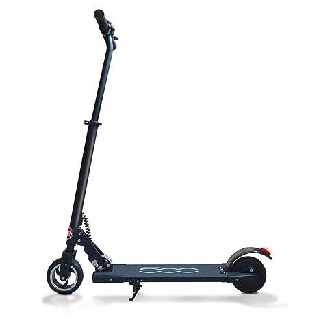 FIAT500 - Patinete Eléctrico Plegable, Velocidad 15 km/h, Autonomía 10km, Carga 75kg, Negro