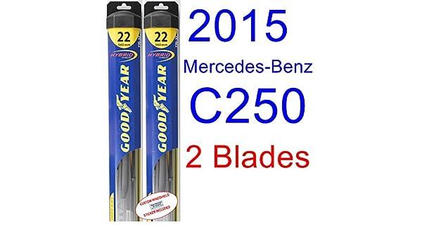 2015 Mercedes-Benz C250 hoja de limpiaparabrisas de repuesto Set/Kit (Goodyear limpiaparabrisas blades-hybrid): Amazon.es: Coche y moto