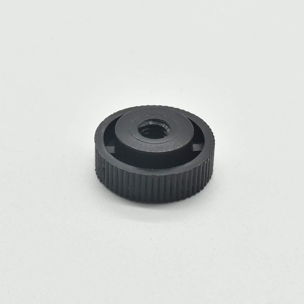10 St/ück R/ändelmutter M4 Schwarz Kunststoff PA 6.6 Abstandsmutter d.15mm H.6mm Distansmutter mit Innengewinde u Steg