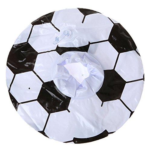 JAGENIE新しいサッカーインフレータブルフローティングウォーターカップホルダープールパーティー飲料コースターおもちゃクリスマスお正月ギフト、1 pc、ランダム配送の商品画像