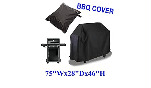 Amazon.com : Laz Tipa Black Waterproof BBQ Grill Barbeque Cover Outdoor Rain Grill Barbacoa Anti Dust Protector For Gas Charcoal Electric Barbecue Bag ...