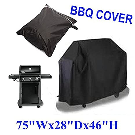 Laz Tipa Black Waterproof BBQ Grill Barbeque Cover Outdoor Rain Grill Barbacoa Anti Dust Protector For