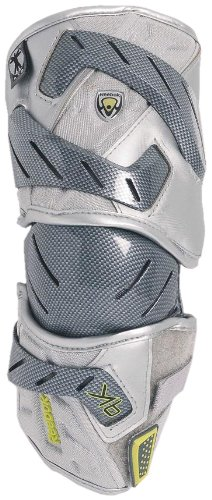 Reebok Lacrosse Protector 9K Elbow Guard (Silver, X-Large)