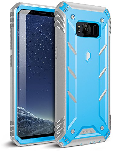 Poetic Revolution Galaxy S8 Rugged Case with Hybrid Heavy Duty Protection Without Screen Protector for Samsung Galaxy S8 Blue/Gray (Does Not Fit Galaxy S8 Plus)
