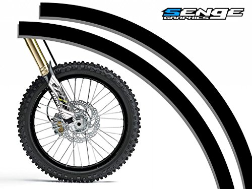 Senge Graphics Solid Black rim protector set for one 19 inch rim and one 21 inch rim