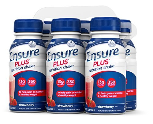 Ensure Plus Nutrition Shake, Strawberry, 8-Ounce Bottle (Pack of 48) by Ensure (Image #4)