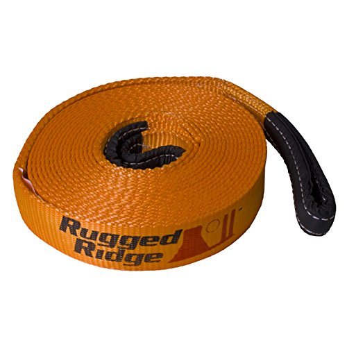 "Rugged Ridge Premium Recovery 2"" x 30' Jeep Tow Strap 20000lb Capacity"