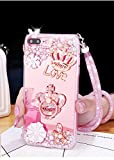 bling company rings - Tianyuanxuan Iphone 7/8 Plus Silicone Case Crystal Rhinestone Bling Diamonds for Girl Crown  Ring Cover with Mirror Soft Shell for Iphone7/ 8 Plus-Rose Gold