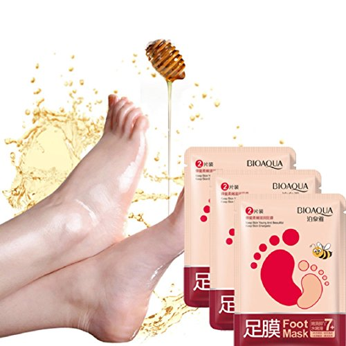 Ikevan Hot Selling Exfoliating Peel Off Foot Mask Baby Soft Feet Remove Callus Hard Dead Skin (3 (Satin Peel)