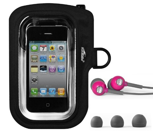 (H2O Amphibx Go Waterproof Case & Headphones for iPhone, iPod Touch, Droid, HTC - (Pink))