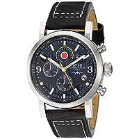 AVI-8 Men's AV-4041-03 Hawker Hurricane Stainless Steel Watch with Black Leather Band