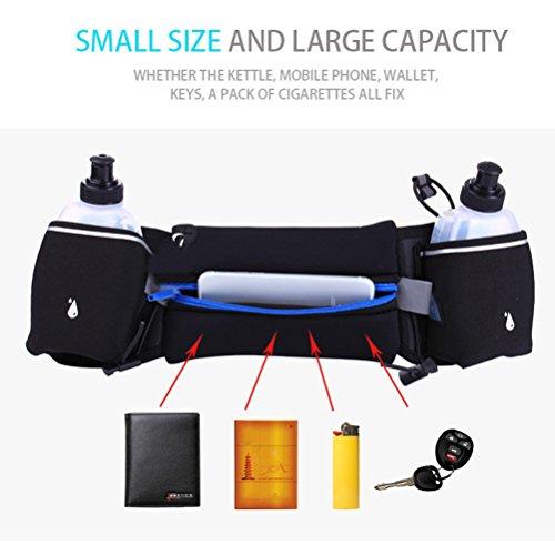 WINOMO Sport Hüfttasche mit Flaschenhalter Multifunktions Gurt für Sports Laufen Joggen