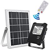 Solar Flood Light with Remote Control, JPLSK 25Leds 10W IP65 Waterproof Auto-on/Off Security Flood Light Outdoor for Business Sign,Deck,Pool,Lawn,Patio,Garden,Yard