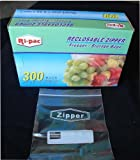 "300 Quart Size 7x8"" Zip Lock Reclosable Freezer Storage Bags Zipper"