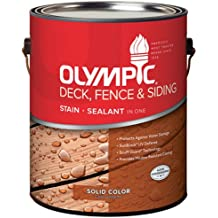 OLYMPIC/PPG ARCHITECTURAL FIN 53207A/01 Solid Stain, 1 gallon, Cape Grey