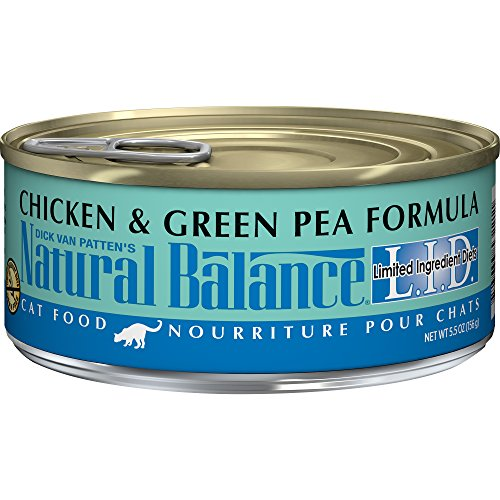 - Natural Balance Limited Ingredient Diets Chicken & Green Pea Formula Wet Cat Food, 5.5 Ounces (Pack of 24), Grain Free