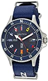 Nautica N83 Men's NAPCBS913 Cocoa Beach Blue/Flags Fabric Slip-Thru Strap Watch