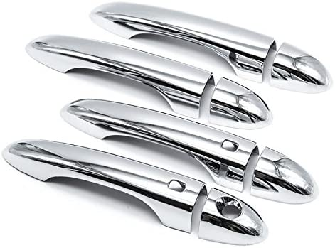 FOR 2015 2016 2017 CHRYSLER 200 CHROME DOOR HANDLE COVER COVERS NO SMART KEYHOLE
