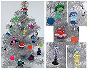 Disney Christmas Balls - Disney Pixar INSIDE OUT 18 Piece Christmas Ornament Set Featuring, Riley, Sadness, Anger, Fear, Bing Bong, Disgust and Other Figures, Includes 6 Memory Balls, Ornaments Average 1/2 to 2.5 inches Tall