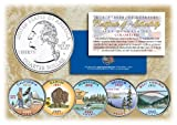 2005 US Statehood Quarters COLORIZED Legal Tender 5-Coin Complete Set w/Capsules by Merrick Mint