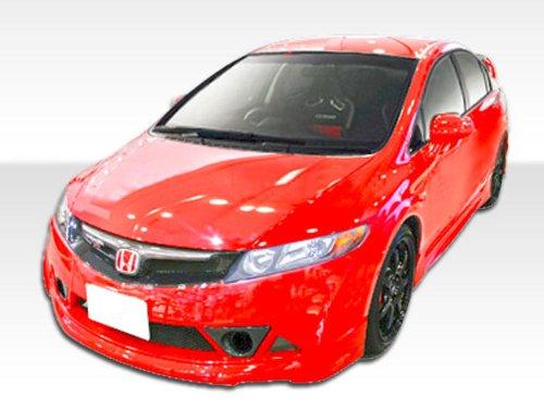 (2006-2011 Honda Civic 4DR Duraflex Renzo Body Kit - 4 Piece - Includes Renzo Front Bumper Cover (107434) B-2 Side Skirts Rocker Panels (103519) B-2 Rear Bumper Cover (103520))