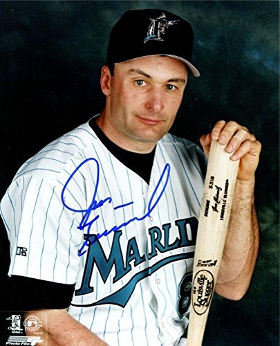 (Jim Eisenreich Signed Photograph - Marlins Posed 8X10 Color BE Hologram - Autographed MLB Photos)