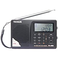 XHD®TECSUN PL-606 Digital PLL Portable Radio FM Stereo/LW/SW/MW DSP Receiver