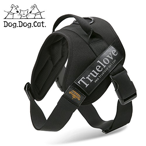 Black XS Black XS Outdoor Removable Logo Reflective Dog Harness (XS, Black) Measures 16  21  Chest Circumference