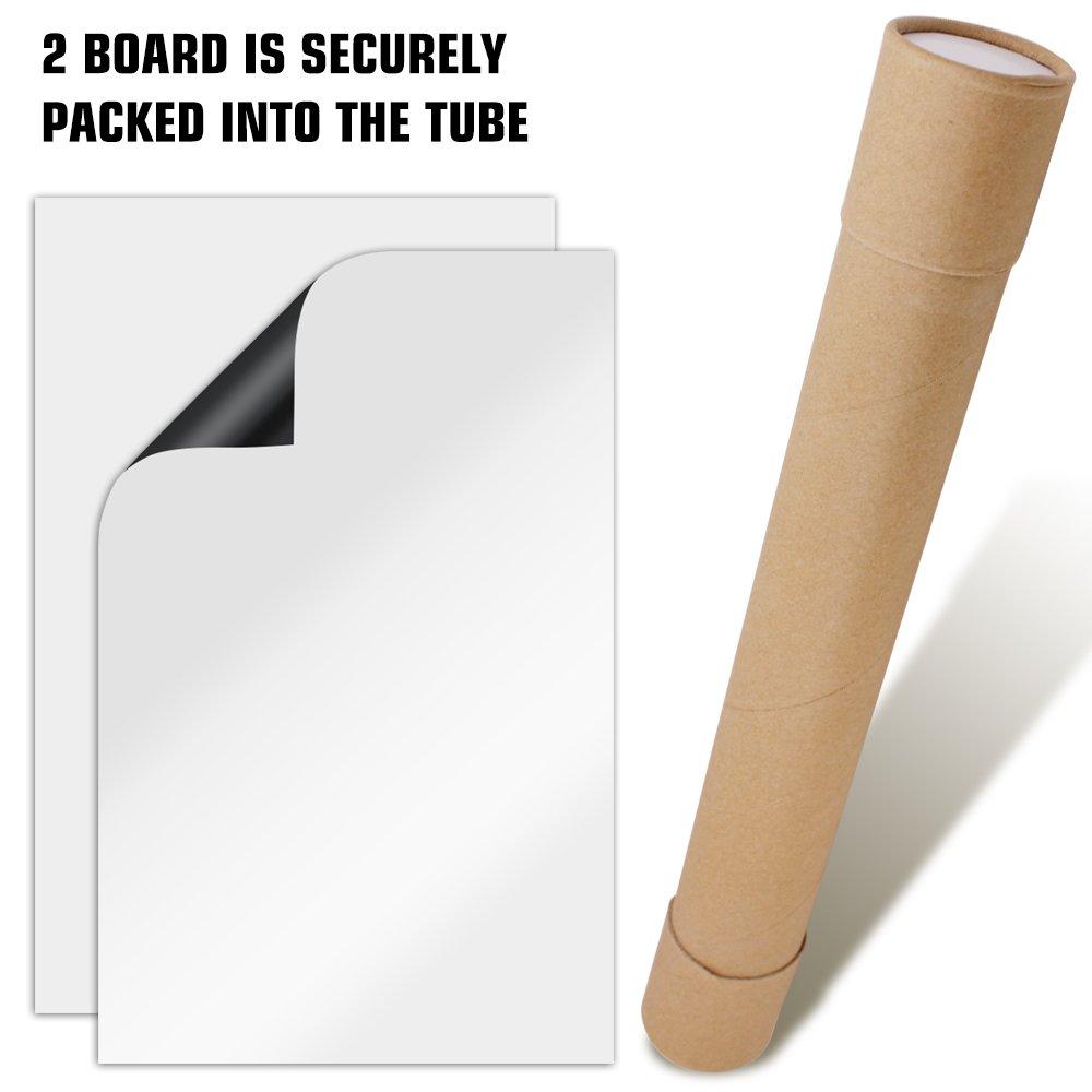 Lot de 2 feuilles de tableau blanc effa/çable /à sec magn/étique