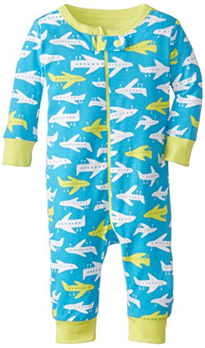 The Children's Place Baby-Boys Newborn Planes Stretchie, Neptune Blue, 0-3 Months