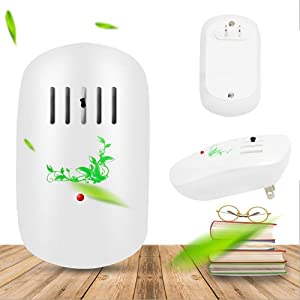 Zadmory Air Purifier for Home, Plug-in Air Purifier No Filter Portable Household Odor Eliminator Cleaner for Remove Pets Smell, Smoke, Allergies and Smoke Dust, Portable for Bedroom, Office (White)