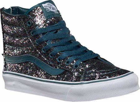 Image Unavailable. Image not available for. Color  Vans Sk8 Hi Slim Zip  Womens Size 5 Chunky Glitter ... 7cc4fbdc3