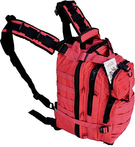 Explorer Tactical 72 Hours Combat Rucksack 17 Inch Backpack-Red