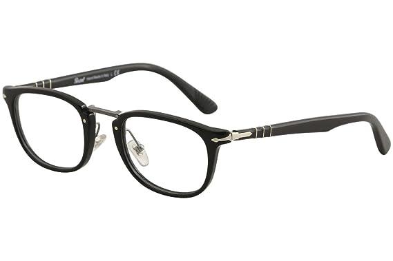 6360015a75b9 PERSOL Eyeglasses PO 3126V 95 Black 50MM at Amazon Men's Clothing store:
