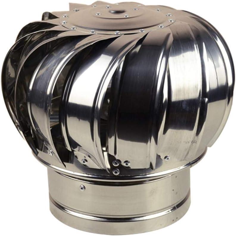 Sombrero Extractor Giratorio, Ventilador La Turbina Soplador Impermeable A Prueba De Lluvia Acero Inoxidable Gorro De Chimenea Techo Buhardilla Granja La Fábrica,300mm