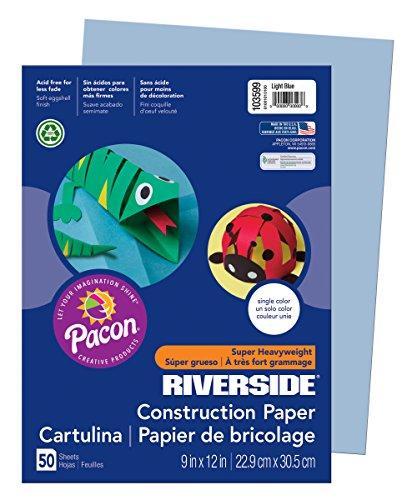 PAC103599 - Pacon Riverside Construction Paper (Paper Light Construction 9x12)