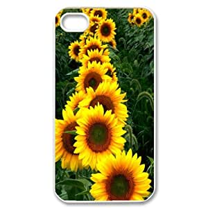 High Quality {YUXUAN-LARA CASE}Sunflowers in The Sun For Iphone 4 4SSTYLE-8