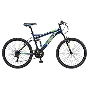 """Mongoose Griffin 24"""" Wheel Mountain Bicycle, Blue, One Size"""