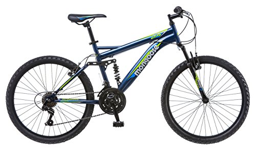 "Mongoose Griffin 24"" Wheel Mountain Bicycle, Blue, One Size"