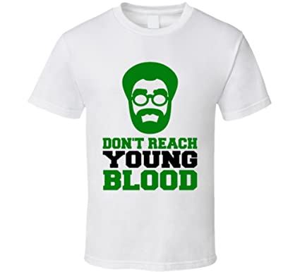 b1a9152ea Dont Reach Young Blood Uncle Drew Kyrie Irvin Basketball Funny White T Shirt  S White