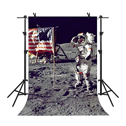 MME 5x7Ft Apollo Moon Landing Backdrop the Space Backdrop American Space Station Background Vinyl Props Video Studio Photography (Apollo Prop)