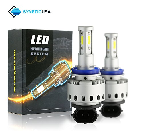 Kit Beam Light Fog (All in One 100W 10000LM LED Headlight High/Low Beam Fog DRL Conversion Kit Light Bulbs 6000K White 3 Year Warranty (H11))