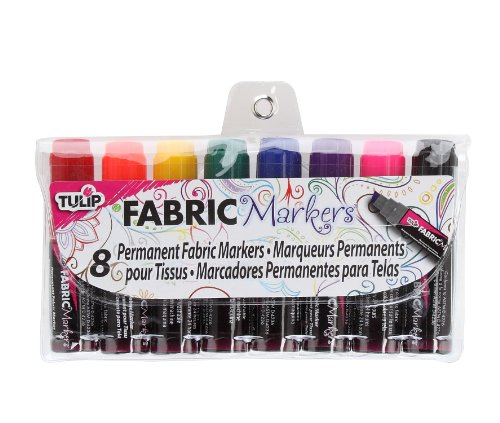 Tulip I Love to Create Mini Fat Fabric Markers 8/Pkg-Assorted -