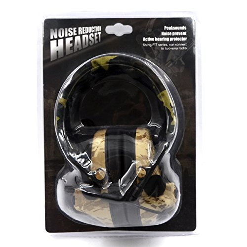 Electronic Earmuff Sport Hearing Protector for Hunting & Shooting, Sand Color by Dolphin (Image #8)