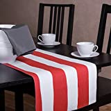 Bold Stripe Table Runner, 100% Cotton & Fully Lined, 13